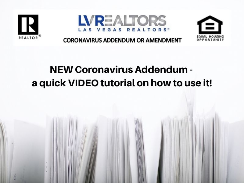 NEW Coronavirus Addendum – a quick VIDEO tutorial on how to use it!