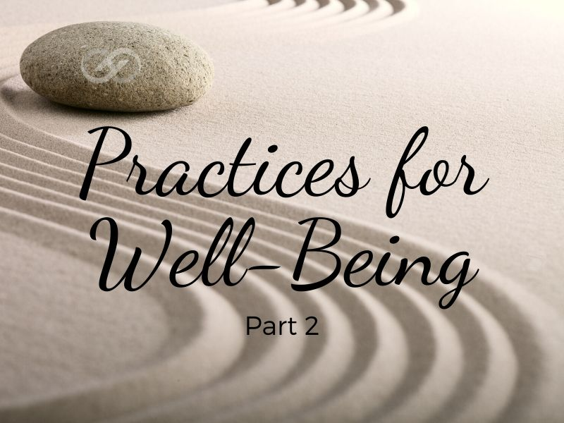 Practices for Well-Being ~ Part 2