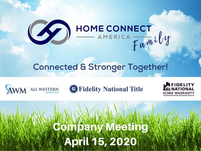 HCA Company Meeting ~ April 15, 2020