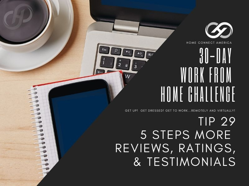 Tip 29 | 5 Steps More Reviews, Ratings, & Testimonials