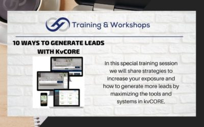 10 WAYS TO GENERATE LEADS WITH KvCORE